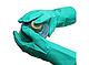 Перчатки кислотостойкие (КЩС) зеленые, фото 2