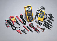 Комплект Fluke 1587MDT: мультиметр Fluke 1587 + токовые клещи Fluke i400 + тестер Fluke 9040