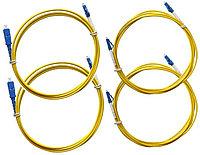 Одномодовый тестовый набор LC из пары SC-LC одинарных шнуров, пары SC-LC адаптеров, пары LC-LC эталонных шнуров