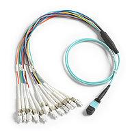 1M BREAKOUT CORD,MPO,UNPIN/LC CONNECTOR