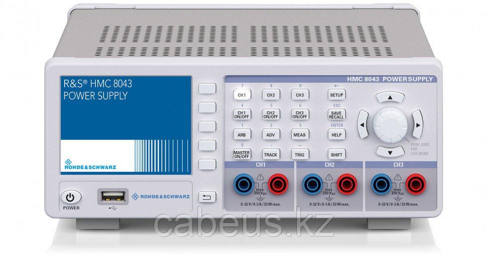 Источник питания HMC8043, 0 - 32В/3А, макс. 100В, 3 канала, IEEE-488 (GPIB)