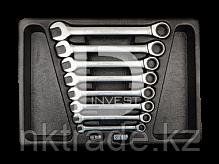 Набор комбинированых ключей с трещоткой в ложементе. 10 пр. 9-12120MR