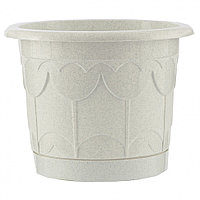 Горшок Тюльпан с поддоном, мрамор, 1,4 литра PALISAD