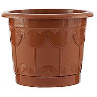 Горшок Тюльпан с поддоном, терракотовый, 6 литров PALISAD
