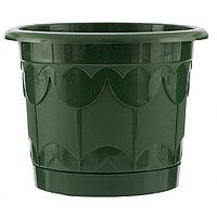 Горшок Тюльпан с поддоном, зеленый, 8,5 литра PALISAD