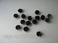 Помпоны с люрексом. 20 мм. Черные. Creativ 2161