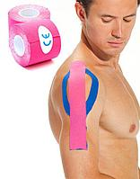 Кинезио лента 5 м*5 см, розовая Physio Tape, фото 1