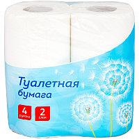 Бумага туалетная OfficeClean 2-х слойн., 4шт., тиснение, белая