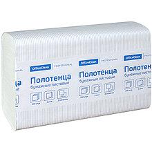 "Полотенца бумажные лист. OfficeClean ""Professional""(Z-сл), 2-х слойн., 200л/пач, 21,5*24, тисн,белые"