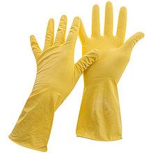 Перчатки резиновые OfficeClean хозяйственные, р.L, желтые, пакет с европодвесом
