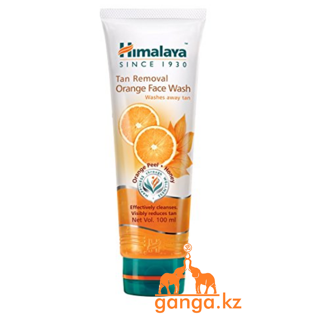 Гель для умывания лица с Апельсином (Tan Removal Orange Face Wash HIMALAYA), 100 мл.