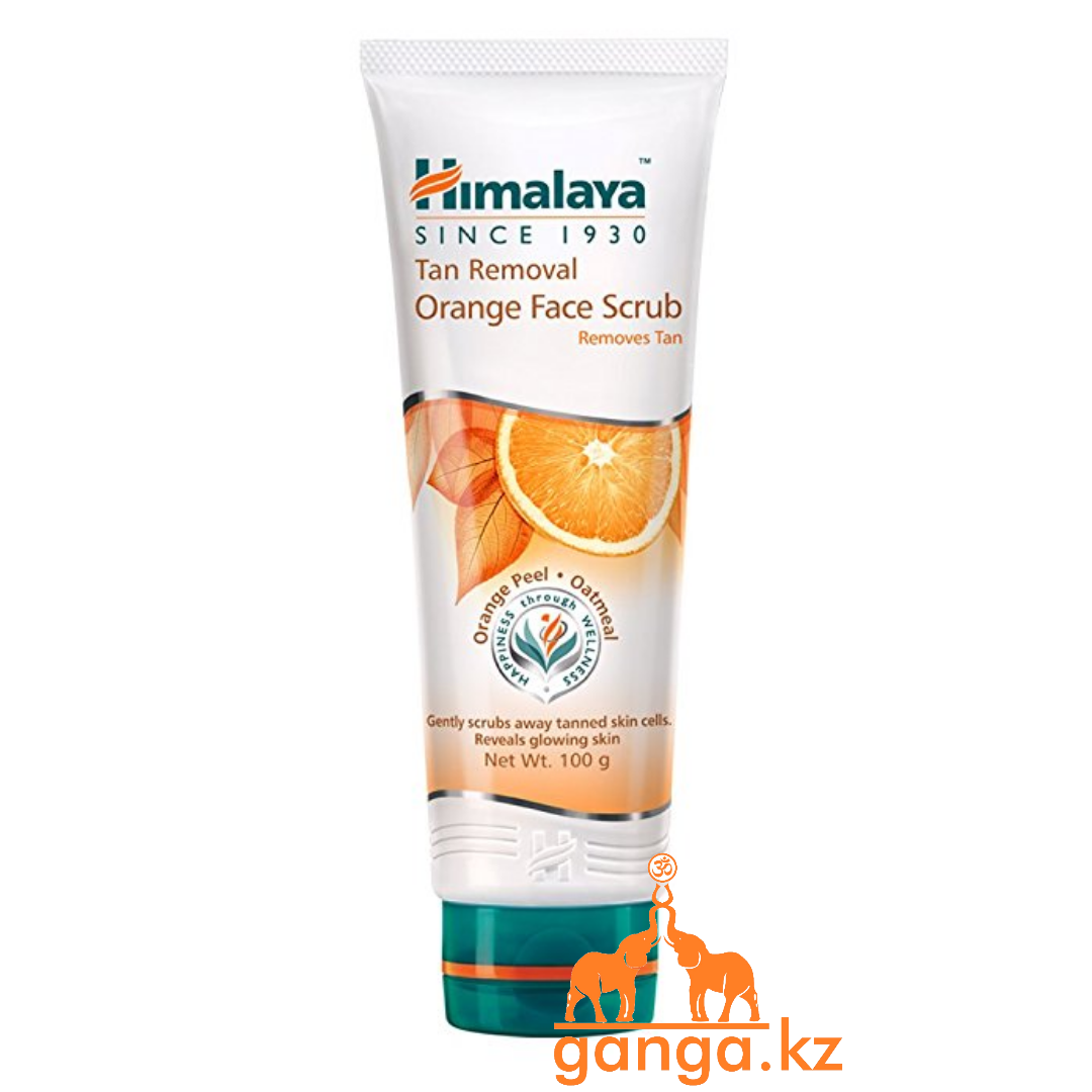 Скраб для лица с Апельсином и Овсяным толокном (Tan Removal Orange Face Scrub HIMALAYA), 100 г