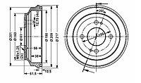 Тормозные барабаны Honda Civic, CRX (87-98, Optimal)