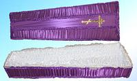 Гробы обитые тканью №3
