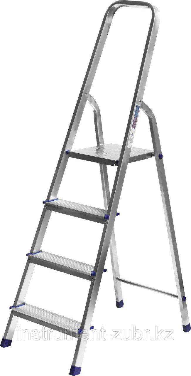 Лестница-стремянка СИБИН алюминиевая, 4 ступени, 82 см