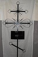 Крест православный металлический с табличкой