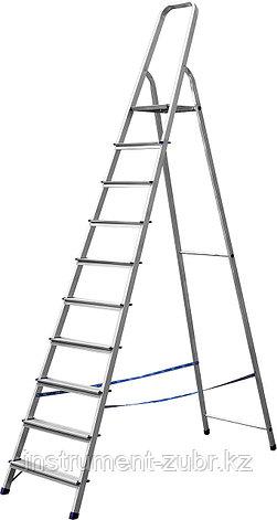Лестница-стремянка СИБИН алюминиевая, 10 ступеней, 208 см, фото 2