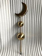 Золотой полумесяц мусульманский с 2 шарами из нержавейки