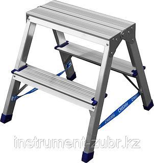 Лестница-стремянка двухсторонняя алюминиевая, СИБИН 38825-02, 2 ступени, фото 2
