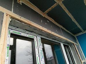 Установка витража, металлопластикогового окна и балконной пары по адресу Ш. Айманова 25/1 5