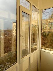 Установка витража, металлопластикогового окна и балконной пары по адресу Ш. Айманова 25/1 16