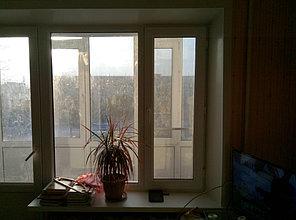 Установка витража, металлопластикогового окна и балконной пары по адресу Ш. Айманова 25/1 19