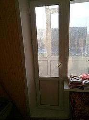 Установка витража, металлопластикогового окна и балконной пары по адресу Ш. Айманова 25/1 20