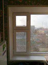 Установка витража, металлопластикогового окна и балконной пары по адресу Ш. Айманова 25/1 21