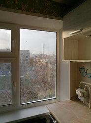 Установка витража, металлопластикогового окна и балконной пары по адресу Ш. Айманова 25/1 22