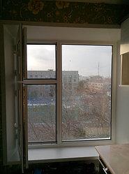Установка витража, металлопластикогового окна и балконной пары по адресу Ш. Айманова 25/1 23