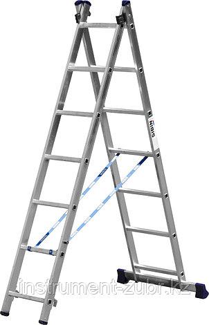 Лестница СИБИН универсальная, двухсекционная, 7 ступеней, фото 2