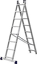 Лестница СИБИН универсальная, двухсекционная, 8 ступеней