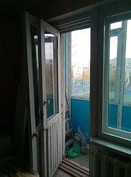 Установка витража, металлопластикогового окна и балконной пары по адресу Ш. Айманова 25/1 26