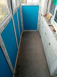 Установка витража, металлопластикогового окна и балконной пары по адресу Ш. Айманова 25/1 27