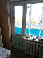Установка витража, металлопластикогового окна и балконной пары по адресу Ш. Айманова 25/1 29