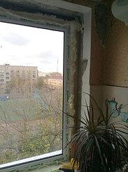 Установка витража, металлопластикогового окна и балконной пары по адресу Ш. Айманова 25/1 30