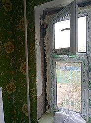 Установка витража, металлопластикогового окна и балконной пары по адресу Ш. Айманова 25/1 31