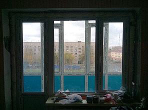 Установка витража, металлопластикогового окна и балконной пары по адресу Ш. Айманова 25/1 32
