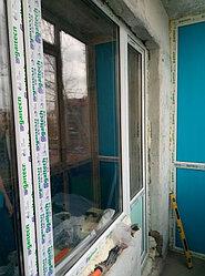 Установка витража, металлопластикогового окна и балконной пары по адресу Ш. Айманова 25/1 34