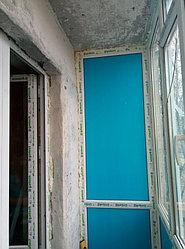 Установка витража, металлопластикогового окна и балконной пары по адресу Ш. Айманова 25/1 35