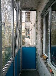 Установка витража, металлопластикогового окна и балконной пары по адресу Ш. Айманова 25/1 36