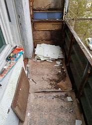 Установка витража, металлопластикогового окна и балконной пары по адресу Ш. Айманова 25/1 42