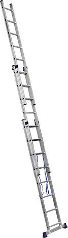Лестница СИБИН универсальная, трехсекционная со стабилизатором, 8 ступеней, фото 2