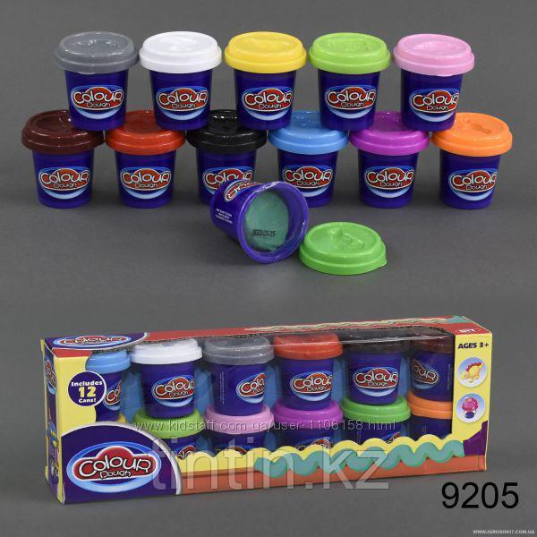 Набор пластилина 12 шт, Colour dough 9205