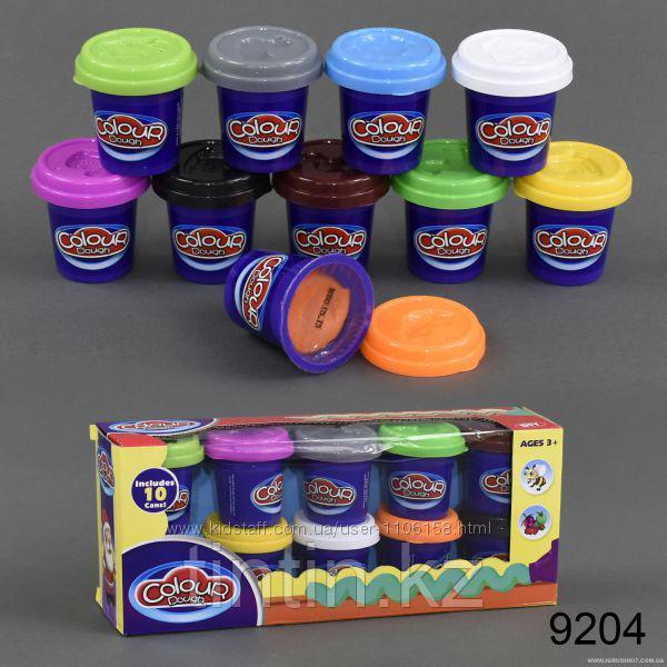 Набор пластилина 10 шт, Colour dough 9204
