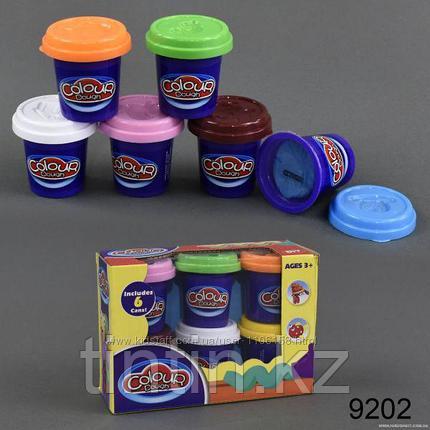 Набор пластилина 6 шт, Colour dough 9202, фото 2