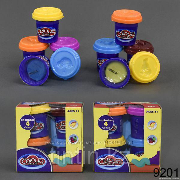 Набор пластилина 4 шт, Colour dough 9201