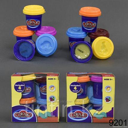 Набор пластилина 4 шт, Colour dough 9201, фото 2