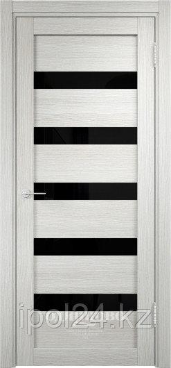 Межкомнатная дверь  Eldorf Мюнхен  (03) ДО остекление Лакобель черное