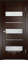 Межкомнатная дверь  Eldorf Мюнхен  (02) ДО остекление Сатинато